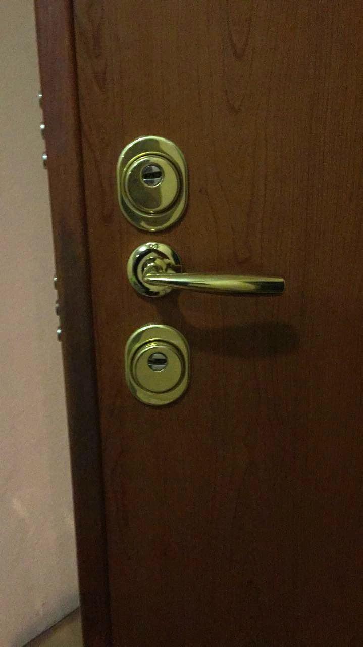 Входная металлическая дверь, двухсистемный замок Mottura (Моттура), личинки Cisa (Чиза) и Evva (Евва), дверные ручки Xoppe (Хоппе), врезная броня Disec (Дисек)